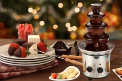 Professional-4-tiers-46cm-Fantanstic-Stainless-Steel-Chocolate-fountain-machine-Fondue-Wedding-BirthdayParty-220V-110V